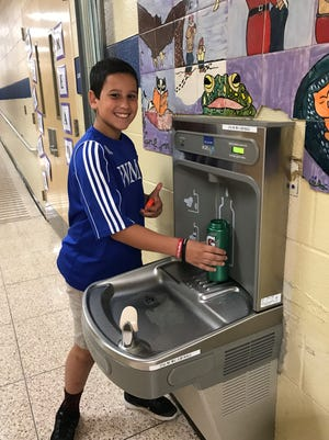 Twelve new bottle filling stations have been installed across the Warren school district (four at the middle school and two in each of the four elementary schools).