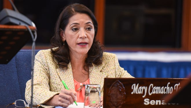 Sen. Mary Camacho Torres on the session floor at the Guam Congress Building on April 27, 2017