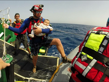 PFA firefighters rescue refugees in Mediterranean