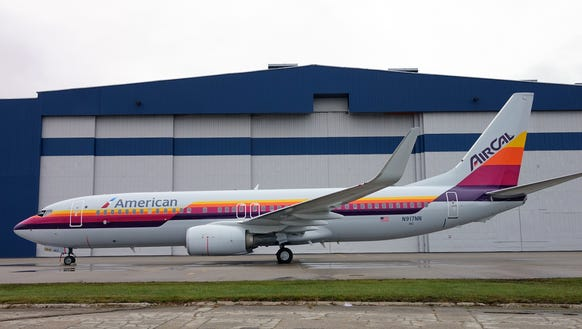 An American Airlines Boeing 737 painted in a 'Heritage'