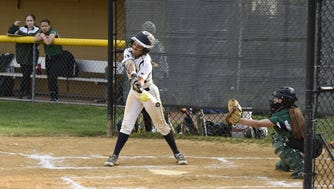 From 2016: Julie Rodriguez takes a cut against Pascack Valley.
