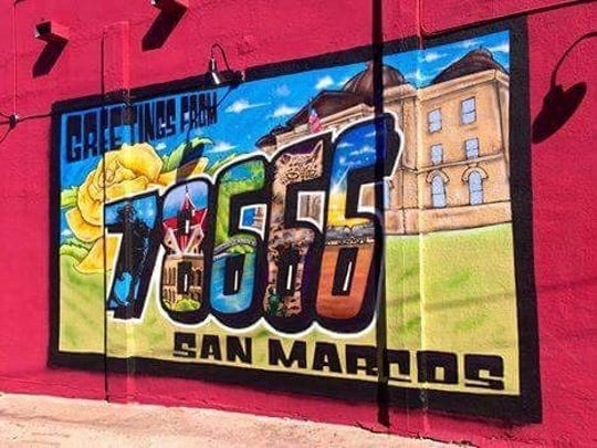 "Mural by David ""Viejo"" Perez of San Marcos."