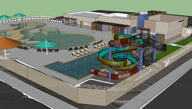 The planned Brookside Bay Water Park is expected to open in June 2019.