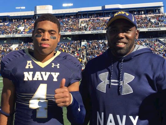 Jamir Tillman, left, seen here with his father, Cedric,