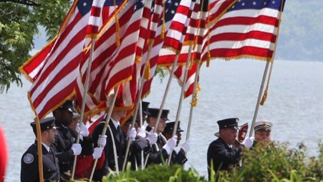 A scene from last year's Memorial Day parade in Nyack.