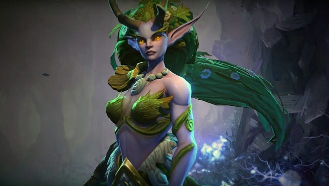 "Dryad Lunara in ""Heroes of the Storm"" features a unique gameplay style that specializes in mobility and inflicting damage over time via poison."