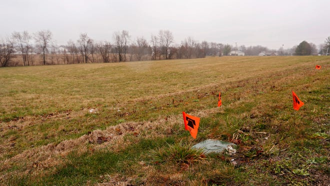 Land near the corner of S.18th Street and County Road 430 E Thursday, March 29, 2018, in Lafayette. The area is the site of a proposed Tippecanoe County Public Library extension.