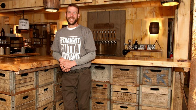 Alta Vista Farm and Milk Room Brewing Company co-owner Kevin Jarvi in the tap room of the Rutland business.