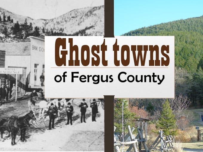 Ghost towns of Fergus County, then and now