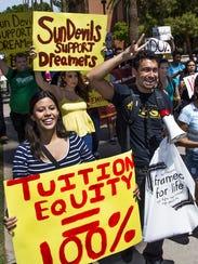Estudiantes de ASU apoyan a Dreamers.