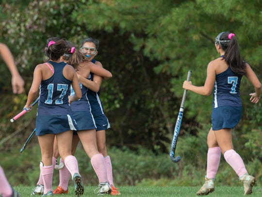 Freehold Township's Avery Drechsler gets hugs from