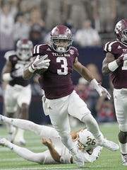 Sept. 5, 2015; Houston;  Texas A&M Aggies kick returner