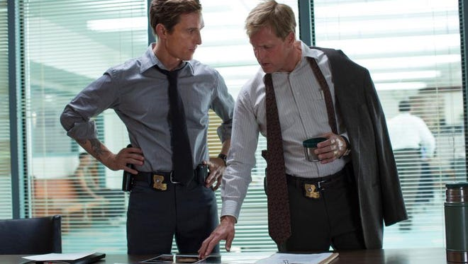 """This image released by HBO shows Matthew McConaughey, left, and Woody Harrelson from the HBO series """"True Detective."""""""