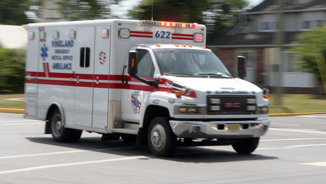 Vineland EMS ambulance,  Monday, Jun. 30, 2014.  Staff Photo/Sean M. Fitzgerald