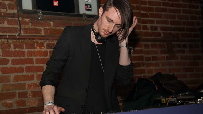 Techno artist Altstadt Echo plays the bar stage during Scene 31 at The Works in Detroit on Saturday, Feb. 28, 2015.