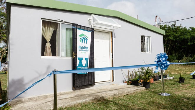 A Habitat for Humanity home is shown in this Dec. 28, 2013, file photo.