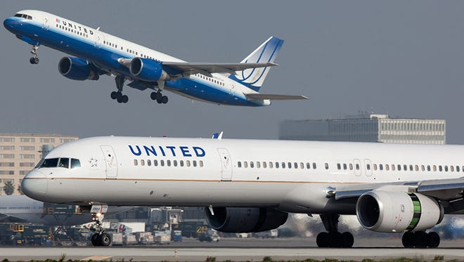 This file photo from January 2012 shows United Airlines Boeing 757 aircraft.
