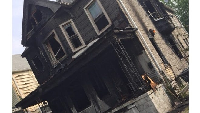 Firefighter Donnie Dickerson's home was destroyed in a blaze on Tuesday night.