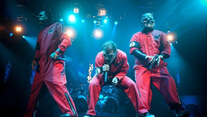 Slipknot seen peforming at The Rockstar Energy Mayhem Festival on Friday, July 6, 2012, in Phoenix.
