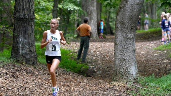 Reynolds senior Anna Vess was the girls individual winner at Wednesday's Buncombe County cross country meet in Swannanoa.