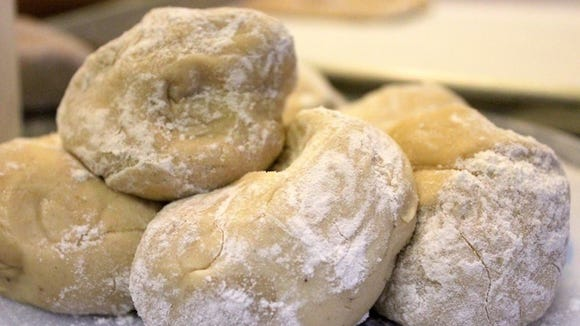 Dough for sweet dough pies is pictured at Yam Country Pies, which will have a grand opening for its new location at 10 a.m. Oct. 17.