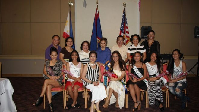 Friends and family members support the candidates for Binibining FCG by attending a dinner reception held in their honor.