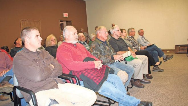More than 35 residents -- many of them Fillmore and Greene Township residents -- gathered to listen and speak about the growing number of confined animal feeding operations (CAFO) in Iowa County.