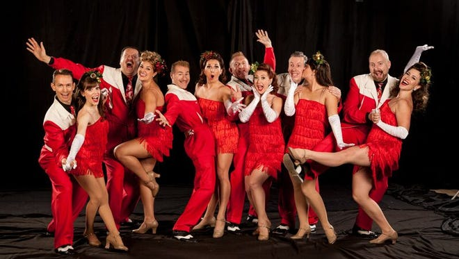 """The Jive Aces and The Satin Dollz will perform """"Swing'n the Holidays"""" Saturday at Civic Hall."""