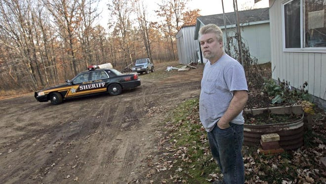 Steven Avery is seen Monday, Nov, 7, 2005., on his family cabin's property in Stephenson, Wis. Prosecutors plan to charge Avery with killing a 25-year-old woman whose vehicle was found near his home, Calumet County District Attorney Ken Kratz said Friday, Nov. 11, 2005. Kratz, who said he plans to charge Avery with first-degree intentional homicide by Tuesday, said he made his decision after DNA testing found Avery's blood in Teresa Halbach's sport utility vehicle. (AP Photo/Milwaukee Journal Sentinel/Jeffrey Phelps.)