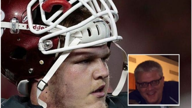 Washington State center Riley Sorenson's father was hospitalized after he suffered a heart attack moments before the Sun Bowl game.