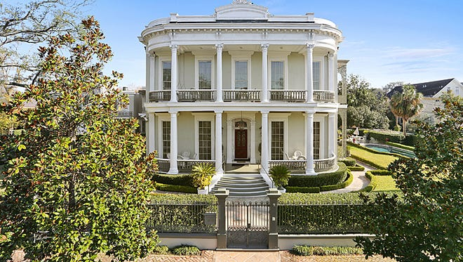 This 7 BR, 7BA home in at 1415 Third Street in  the historic New Orleans Garden District. It is listed at $7,999,000.