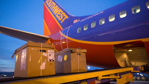 Packages bound for Bradley International Airport, near