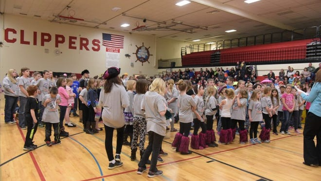 Teams wait for their results during the BayLake Destination Imagination Regional March 5 at Sturgeon Bay.