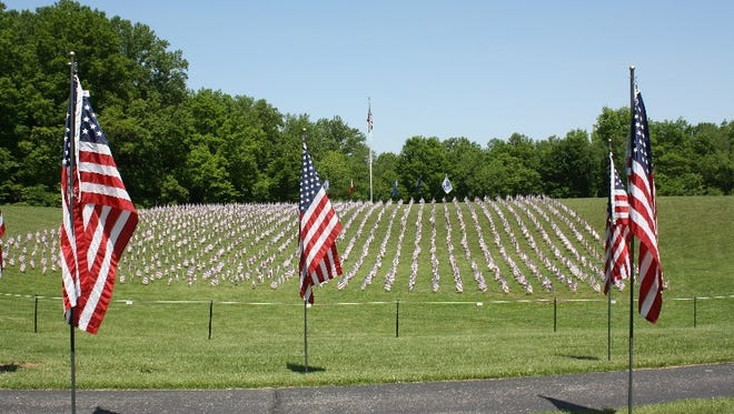 The Memorial of Valor at Hayswood Nature Reserve in Corydon opened to the public on Sunday.  It remains open through May 30.