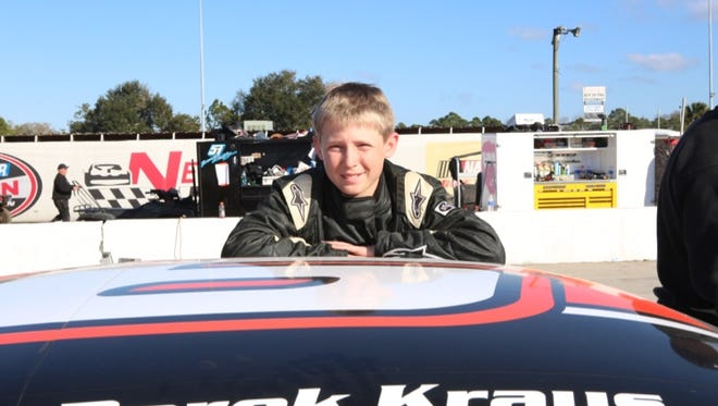 Contributed photo Derek Kraus, 13, of Stratford will be participating in the Midwest Truck Tour, the American Ethanol Super Truck Series, selected ARCA races, as well as making some Late Model appearances at Marshfield Super Speedway and Wausau?s State Park Speedway. Racing sensation Derek Kraus, 13, of Stratford, will be participating in the Midwest Truck Tour, the American Ethanol Super Truck Series, selected ARCA races, as well as making some Late Model appearances at Marshfield Super Speedway and Wausau's State Park Speedway.