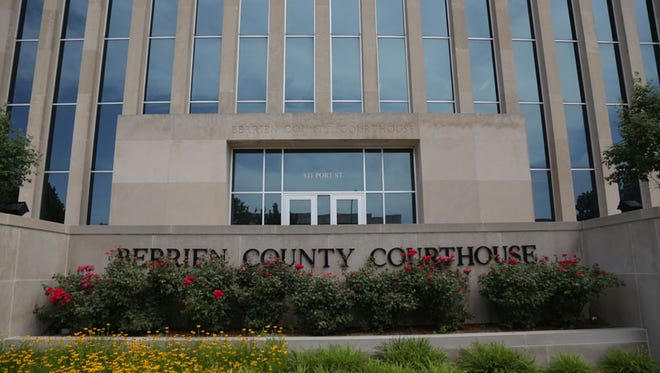 The Berrien County Courthouse in St. Joseph is seen on Tuesday July 12, 2016 where bailiffs Ron Kienzle and Joseph Zangaro were shot and killed by inmate Larry Gordon.