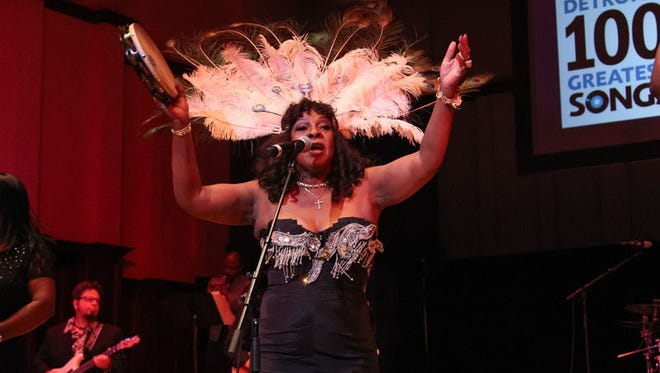 """Martha Reeves performs her hit """"Dancing in the Street"""" at the Don Was Detroit All-star Revue during the Concert of Colors at the Max M. Fisher Music Center in Detroit on Saturday, July 16, 2016."""