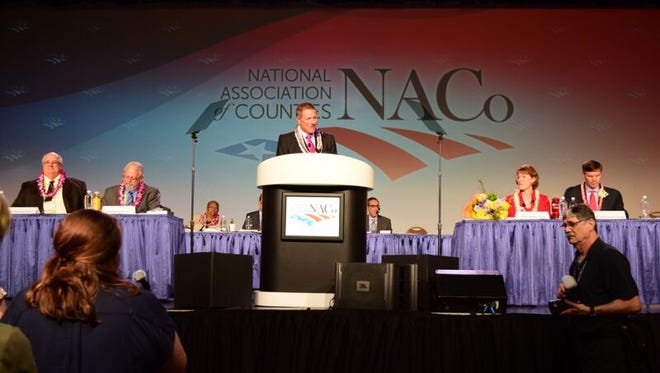 Leon County Commissioner Bryan Desloge was named president of the National Association of Counties on Monday in Long Beach, California.
