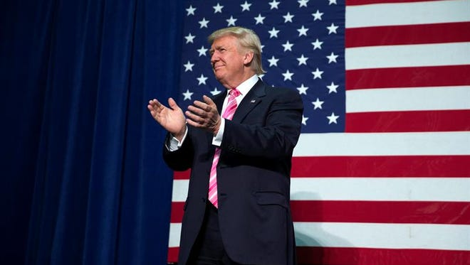 El candidato republicano a la Casa Blanca, Donald Trump, durante un acto de campaña en Fredericksburg, Virginia, EEUU, el 20 de agosto de 2016.