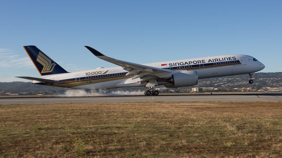 Singapore Airlines' first nonstop flight from Singapore