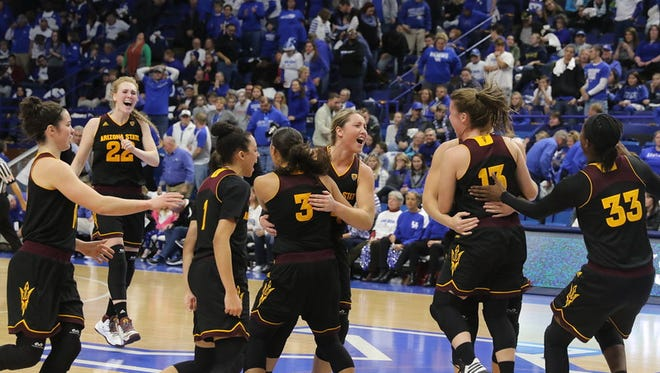 The ASU women's basketball moved back into the AP top 25 Monday at No. 23 after upsetting Kentucky on the road Sunday.