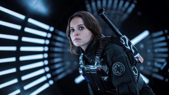 "Felicity Jones stars as Jyn Erso in ""Rogue One: A Star Wars Story."""
