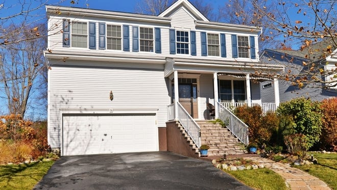 This four-bedroom home in Hackettstown has an open-concept floor plan and a finished basement.