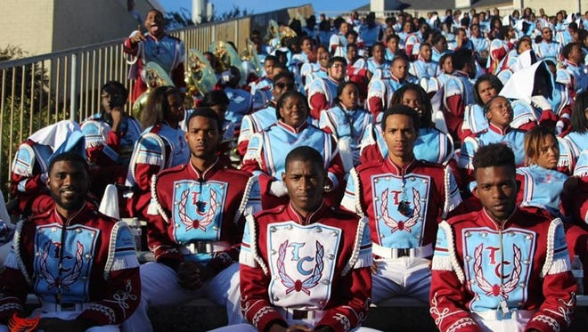 This photo of the Talladega College marching band is from the band's Instagram account.