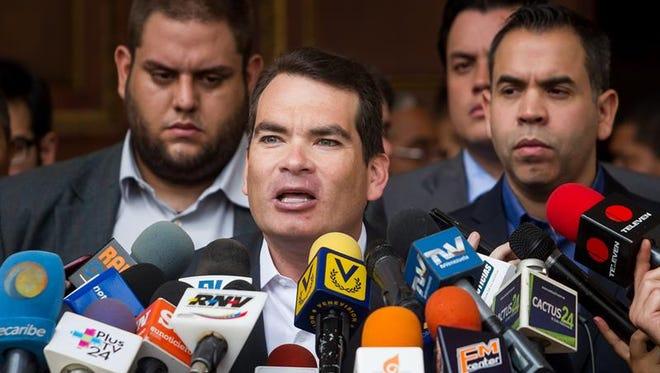 En la imagenn, el diputado opositor venezolano Tomás Guanipa.