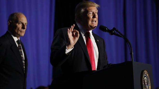 El presidente estadounidense, Donald Trump, durante un evento.