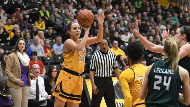 Jenny Lindner has had quite a season for UW-Milwaukee. She is averaging over 15 points per game and has reached 1,000 points and 500 rebounds already.