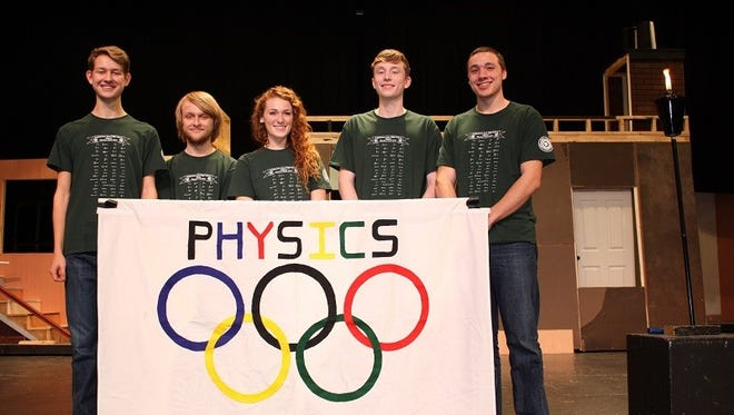 A winning team from Dallastown Area High School's annual Physics Olympics in 2016.