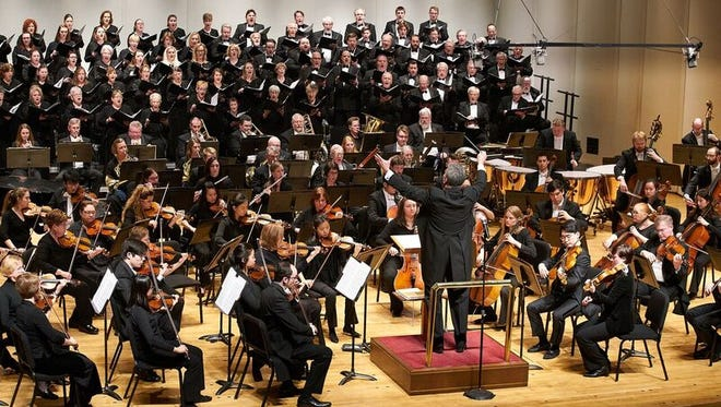 """The Evansville Philharmonic Orchestra, led by Maestro Alfred Savia, performs """"Our American Heritage"""" Saturday evening at the Victory Theatre."""