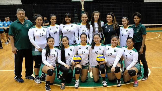 The University of Guam Tritons Volleyball team.
